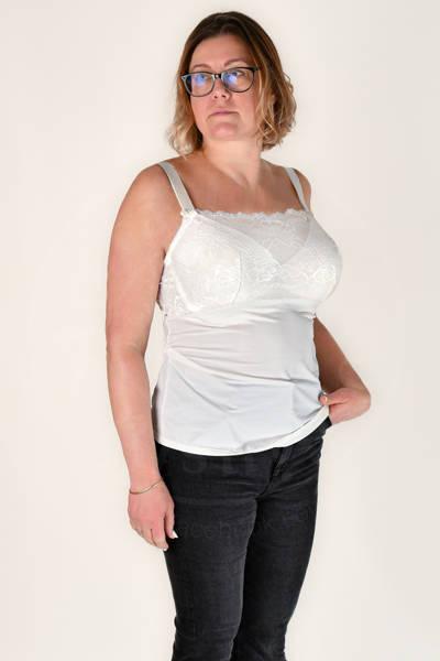 Biustonosz z koszulką 7406, pearl white